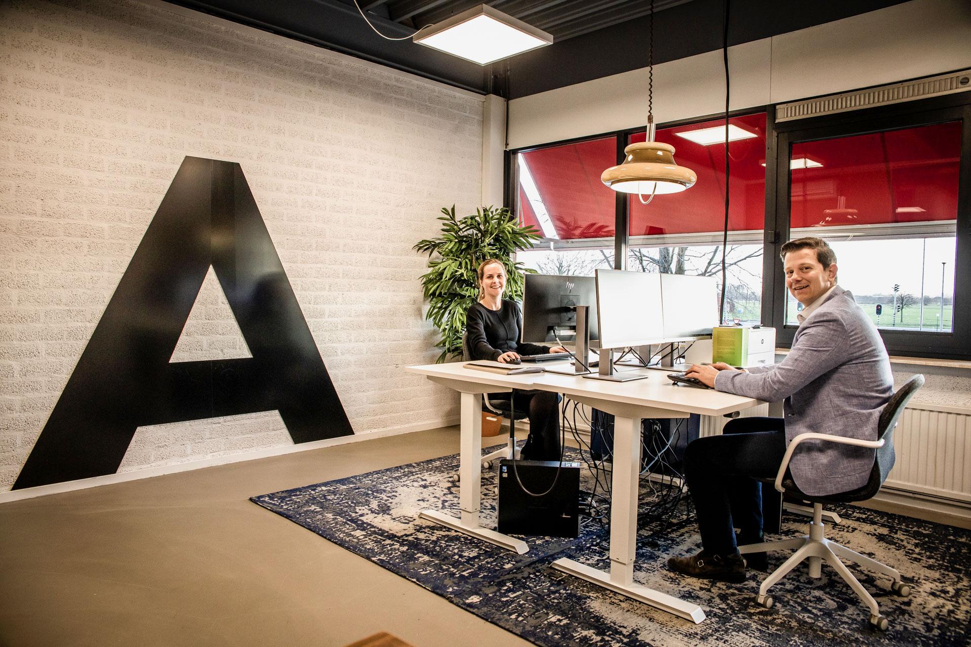 De workspace van Christian en Ylona